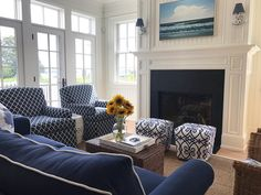 """1,133 Likes, 7 Comments - Patrick Ahearn Architect LLC (@patrickahearnarchitect) on Instagram: """"Photoshoot in Vineyard Haven today. Here's the family room with views to the ocean."""""""