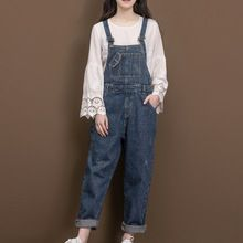 f269ecc073b48 Cheap Jumpsuits, Buy Directly from China New Jeans Women Jumpsuit Loose Denim  Romper Overalls Casual Long Trousers Denim Pants Wide Leg Rompers Blue Jeans