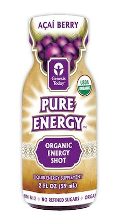 Genesis Today Pure Energy Organic Açaí Energy Shot