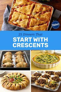 Pillsbury Crescent Roll Recipes, Recipes Using Crescent Rolls, Pillsbury Dough, Pillsbury Recipes, Healthy Recipes, Cooking Recipes, Chef Recipes, Kraft Recipes, Crossant Recipes