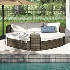 Sol 72 Outdoor™ Rockport 5 Piece Dining Set with Cushions & Reviews | Wayfair Daybed Canopy, Daybed Sets, Outdoor Seating, Outdoor Sofa, Outdoor Decor, Outdoor Living, Colored Dining Chairs, Seat Cushions, Gardens