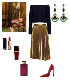 """Untitled #93"" by thisvi on Polyvore featuring A.L.C., Casadei, Chanel, Tom Ford, Dolce&Gabbana, Badgley Mischka, women's clothing, women's fashion, women and female"