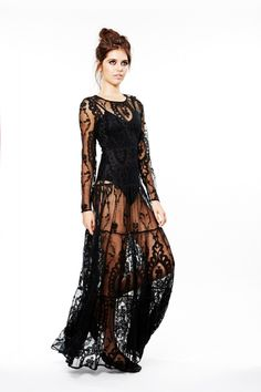 For Love and Lemons. Enchanted Dress. Maxi lace dress. I just discovered this brand, and I am completely in love.