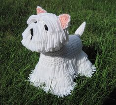 Adorable crochet dog Westie PDF Crochet Pattern by ScareCrowOriginals on Etsy. I know someone who would be delighted by this lovely dog!