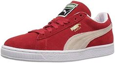 PUMA Women's Suede Classic Core Wns Fashion Sneaker, High Risk Red/White, 7