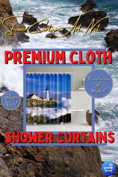 Drastically enhance your bathroom decor with a soft & stylish fabric shower curtain from Shower Curtain Art. Nautical Shower Curtains, Shower Curtain Art, Cool Shower Curtains, Bathroom Curtains, Modern Bathroom Design, Bathroom Interior Design, Shower Accessories, Downstairs Bathroom, Bathroom Fixtures