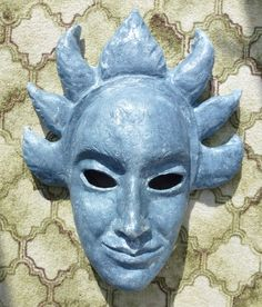 The first mask from the sun-deity sculpt. I like that the eyebrow details came out!
