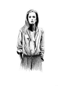 Artist @nelebalke Illustrations, Ink, Artist, Fashion, Moda, Fashion Styles, Illustration, Artists, India Ink
