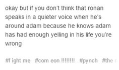 And he always makes sure to stand on his side that can hear so adam never has to worry about missing something because of his ear
