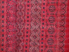 Ideas for Chloe - Ajrakh Block Print Kantha Bedspread Handmade by IndianHomeTextile, $119.00