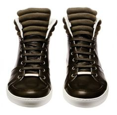 Dior Homme Leather High-Tops Sneakers on http://www.dmarge.com