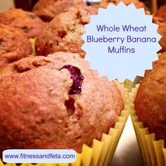 Whole Wheat Blueberry Banana Muffins - adapt