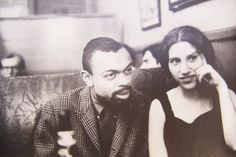 Beat Poets Diane DiPrima and LeRoi Jones circa 1950's....