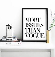 Mehr Fragen als Poster Vogue druckbare Datei  gleichen von Dantell