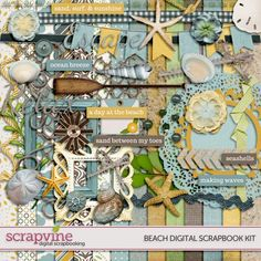 Beach Digital Scrapbooking Kit | ScrapVine