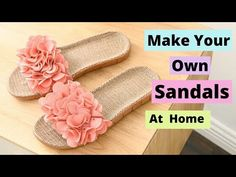 Handmade Sandals For Women / DIY Flip-flop Making Tutorial Hi, Friends Today I am sharing how to make Flip-flop or sanda. 5 Min Crafts, Diy Crafts Hacks, Diy Crafts Videos, Recycled Crafts, Handmade Crafts, Doll Videos, Learning To Embroider, Shoe Art, Fashion Sandals