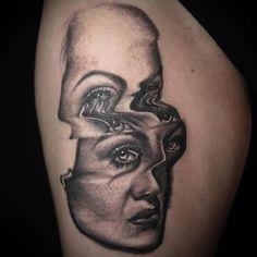 By @pietrosedda ♠️ www.facebook.com/TTTism  www.TTTism.tumblr.com ♠️ #TTTism #ContemporaryTattooing  #tattoo #bodyart #illustration #skin #adornment #pain #ritual #tradition #art #craft