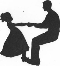 Father and daughter dancing silhouette by hilemanhouse on Etsy