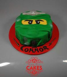 Peyton is requesting a green ninjago cake...and this is what he shall get :) easy enough