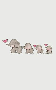 Adams family in 2020 Baby Elephant Drawing, Baby Animal Drawings, Elephant Art, Elephant Family, Cute Disney Wallpaper, Wallpaper Iphone Cute, Cute Cartoon Wallpapers, Elephant Wallpaper, Animal Wallpaper