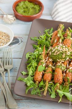 Carrots with Carrot Top Pesto - these sweet juicy roasted carrots ...
