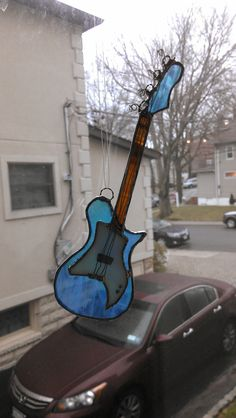 Guitar @ Etsy http://www.etsy.com/listing/126826558/stained-glass-electric-bass-guitar