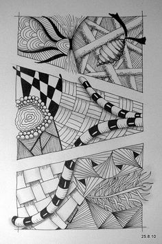 View this close up. You can see the use of cross hatching. Shading makes all the difference. Also note that the artist goes out of the defined space between the edge and border. This is a great way to create more interest.