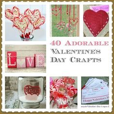Valentine's Day Crafts are such a fun way to celebrate the holiday. This pin has a ton of great Valentine's Day Crafts for kids, and even for your sweetheart too!