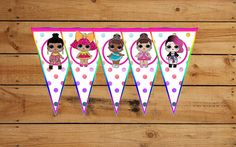 LOL Surprise Doll Happy Birthday Party Banner Bunting