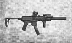"""benchau: """" Sig MPX SBR + SilencerCo Osprey 45 #Fight The Noise 