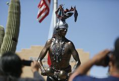 Right here in Tucson Arizona Deer dancer statue unveiled at Pascua Yaqui HQ