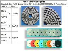 Resin Dry Polishing Pad 2.5mm Thickness made by RM Tech Korea (StoneTools Korea®) provides the highest quality; Diamond Resin Dry Polishing Pad Featuring longevity with 2.5 mm thickness, tailored for Concrete, Limestone, Sandstone and Engineered Stones as well as for Granite & Marble.
