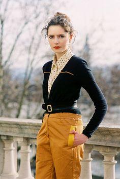 Rosalind Jana wearing mostly vintage in London (Vanessa Jackman) #streetstyle