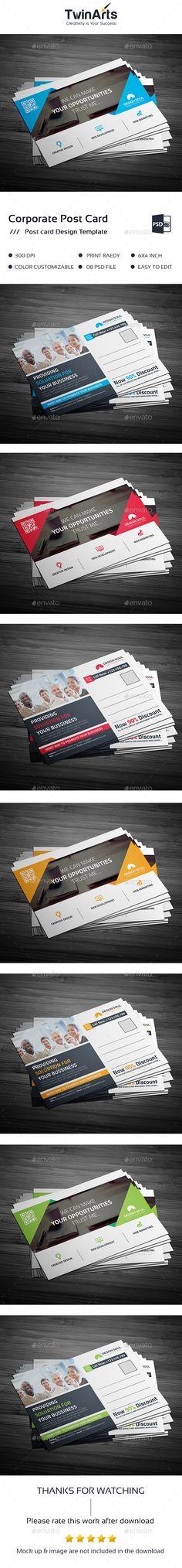 Postcard Design Template PSD
