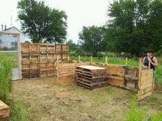 Start of goat house