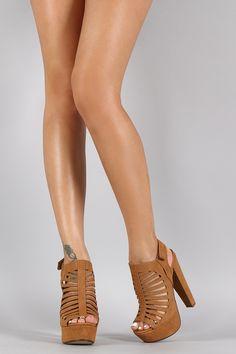 Strappy Cutout Slingback Mule Heel