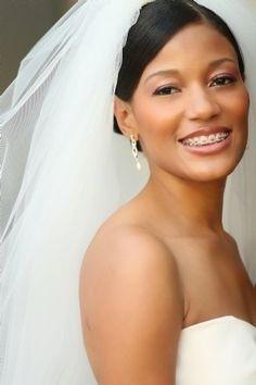 Pretty bride even with her braces.
