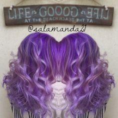 Bright purple balayage ombré done by me Manda Halladay  @salamanda21