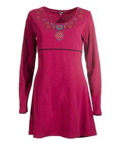 Love this Raspberry Empire Waist Dress on #zulily! #zulilyfinds