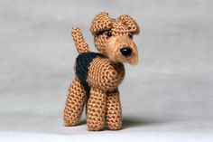 """Airedale Terrier Approximately 4x6"""" Email me with your custom requests, no extra charge **Add a collar for $1.00 extra, your choice of color,"""