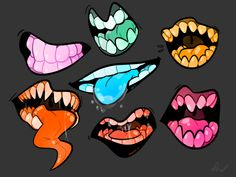 "retroautomaton: "" Unnaturally colorful mouths for practice and whatnot. """