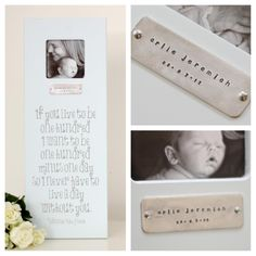 Personalized baby frame from chicklingosigns.com