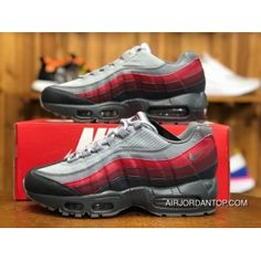 huge selection of 8be9b f7006 Nike Air Max 95 Essential 749766-025 Mens Running Shoes Cool Grey Red
