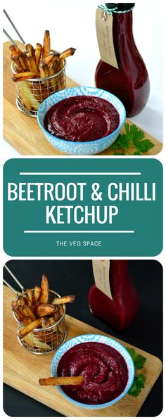 This Beetroot & Chilli Ketchup makes a vibrant and delicious homemade gift, though once you've tried it on your chips it may be too good to give away! Chutney Recipes, Jam Recipes, Dairy Free Recipes, Veggie Recipes, Cooking Recipes, Healthy Recipes, Relish Recipes, Chilli Recipes, Veggie Food