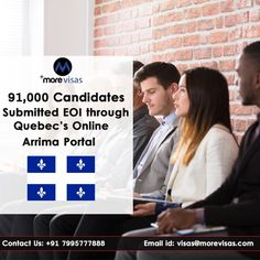 Higher than immigration applicants have provided their expressions of interest by Arrima online portal of Quebec since it began last year Sept — 06 months controlled by the increase of the province's current government of Coalition Avenir Québec. Overseas Jobs, Liberal Government, Current Job, Job Work, Nursing Jobs, Marital Status, Electronic Media, Job Opening, Quebec