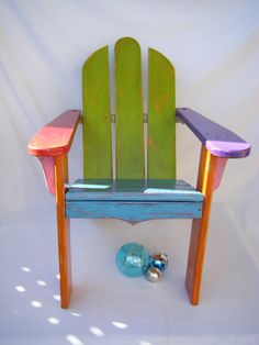 Seaside Cottage Child's Adirondack Chair