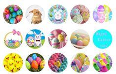 Easter rabbit and eggs Free Bottle Cap Images by Folie du Jour