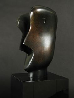 - Sculpture - Print the sulpture yourself - Henry Moore Sculpture Painting, Bronze Sculpture, Wood Sculpture, Metal Sculptures, Organic Sculpture, Sculpture Head, Contemporary Sculpture, Contemporary Art, Maya Art