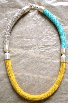 rope necklace  ( l u n a ). $95.00, via Etsy.