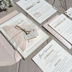 Blush and Gold Wedding Invitations Blush by InspirationIDoDesign